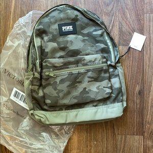 Pink camo backpack